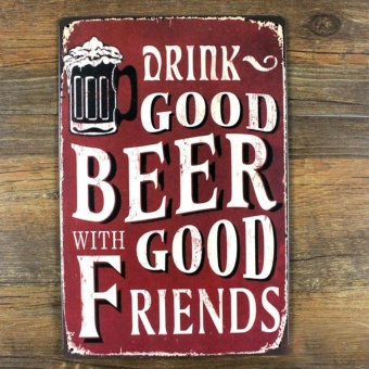 GOOD BEER Vintage Plaque Metal Poster Tin Sign Retro Iron Crafts Bar Wall Art - intl