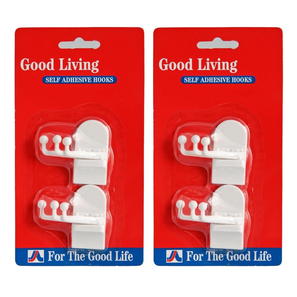 GOOD LIVING PLASTIC HOOK SWING TYPE 2PCS/CARD (2 Sets) Philippines