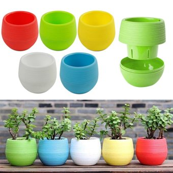 Good Service 20PCS Color Plastic Pot Herb Box Succulent Plants Flower Pots Garden DIY Craft - intl