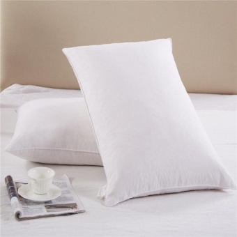 Goose Down And Feather Filling Queen Bed Pillows, 2-Pack,Cottoncover, 300 Tc ,Queen / Standard Size - intl