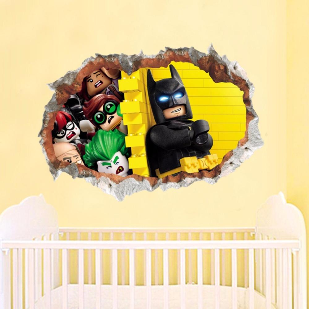 Philippines | Gosport Batman Superman 3D Wall Sticker Removable ...