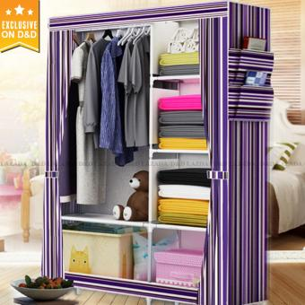 Greatnes 2323 D&D Stripes Storage Wardrobe and Clothes Organizer