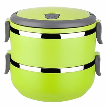 Greatnes D&D BSS-69 Stainless Steel Thermal Box and Bento Box Two Layers (Green)