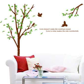 Green Tree living room bedroom sofa background decorative adhesive paper wall sticker