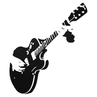 Guitar Wall Sticker Guitarist Music Removable Decal Home Mural Decor Wallpaper