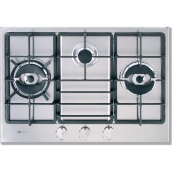 Hafele Stainless Steel 3 Burner Gas Hob (Silver/Black)