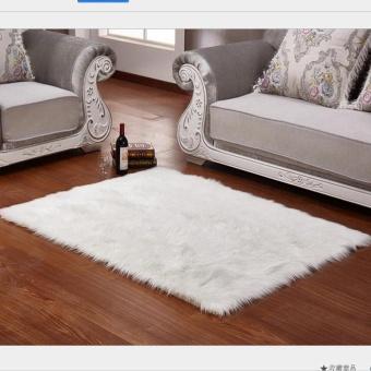 Hairy Carpet Sheepskin Chair Sofa Cover Bedroom Faux Mat Seat PadPlain Skin  Fur Plain Fluffy Area