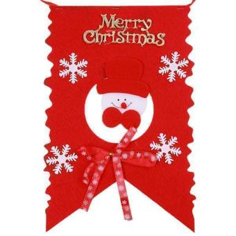 Hang-Qiao 6 Snowman Christmas Flag Banner Pennant Hanging Decor