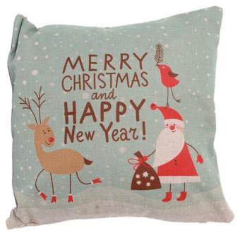 Hang-Qiao Christmas Throw Pillow Cover Cases F Multicolor - picture 2