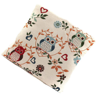 HANG-QIAO Owl Pattern Mat Pillow Case (Multicolor) - picture 2