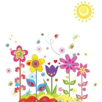 Hang-Qiao Removable Flowers Sunshine Wall Sticker Decal Room Decor - 2