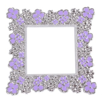 Hanyu Flowers Creative Wall Stickers Socket Decoration Purple