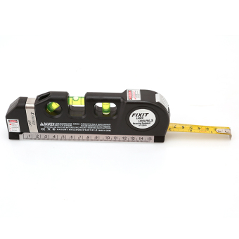 Hanyu Multifunction Laser Level Horizontal Vertical Line MeasureMeasuring Tape 8ft Ruler Aligner - intl - 3