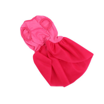 Hanyu Pet Dogs Puppy Butterfly Corsage Puff Tutu Dresses Costumesfor Pets Dogs S Rose Red - intl - 4