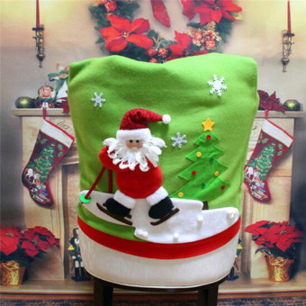 Hanyu Santa Claus Hat Chair Cover Christmas XMAS Decoration Party Holiday - intl