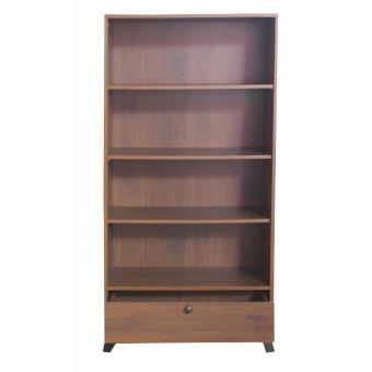 Hapihomes Andy 4-Shelves Bookcase w/ Drawer (Walnut)