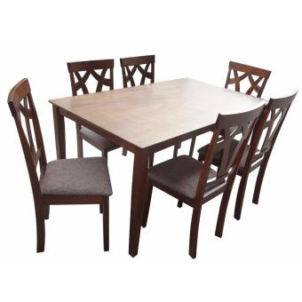 Hapihomes Brilliant Jew 6-Seater Dining Set with Cushion seat Price Philippines