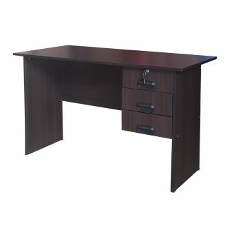 Hapihomes Diah 3-Drawer Office Desk (Wenge)