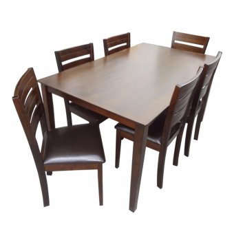 Hapihomes HANson 6-Seater Wood Dining Set Price Philippines