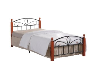 "Hapihomes Hilton Bed Frame ""54 x 75"" (Black/Brown) Price Philippines"