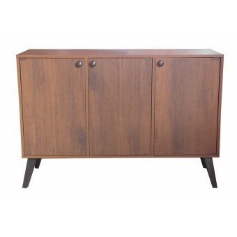 Hapihomes Jam 3-door Storage Cabinet (Walnut)