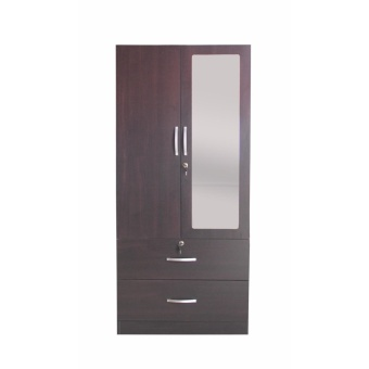 Hapihomes Philipe 2-door Wardrobe w/ Full Length Mirror (wenge)
