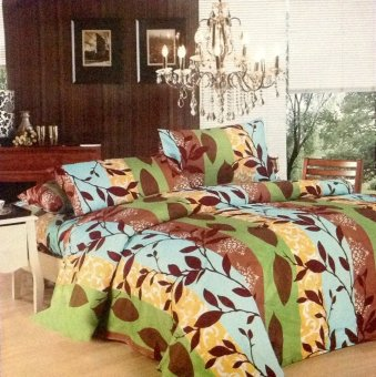 Happy Comfort 3 piece Bedding Collection (Leafybrown) Price Philippines