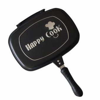 Happy Cook Aluminum Double-Sided Grill Pan 32cm (Black) - 3