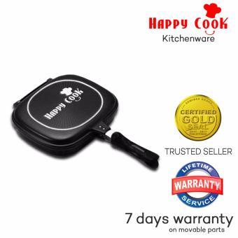 Happy Cook Aluminum Double-Sided Grill Pan 32cm (Black)