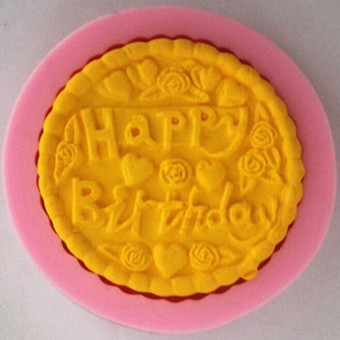 Happy resin chocolate sugar cake silicone Mold