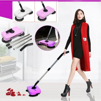 HappyLife Automatic Swivel Cordless Hand Push Sweeper Dust CarpetFloorcleaning Sweeping - intl