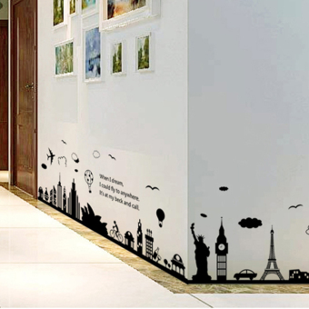 Harbor quiet hallway entrance baseboard adhesive paper wall stickers
