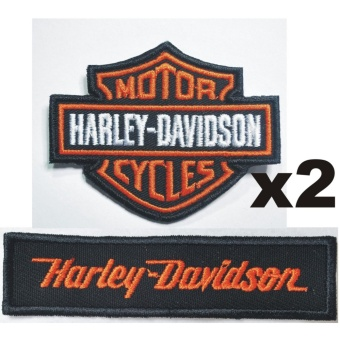 Harley Davidson Motorcycle Embroidered Cloth Patch Set (Get 2)