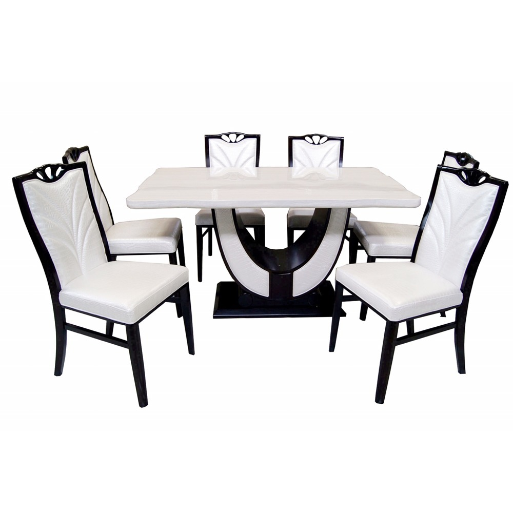 HB Philippines 6 Seater Marble Dining Set