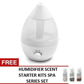 HD-1341A Fragrance Smoke Air Humidifier (White) with FREEHumidifier Scent Starter Kits Spa Series Set