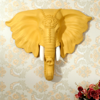 Head Wall decorative wall hangers European elephant