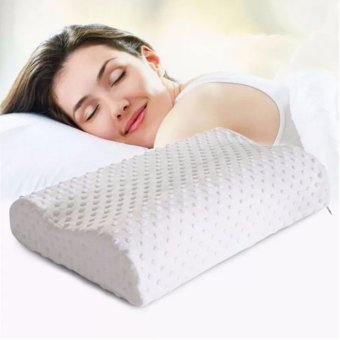 Health Care Sleep Slow Rebound Memory Foam Pillow Cervical (White)