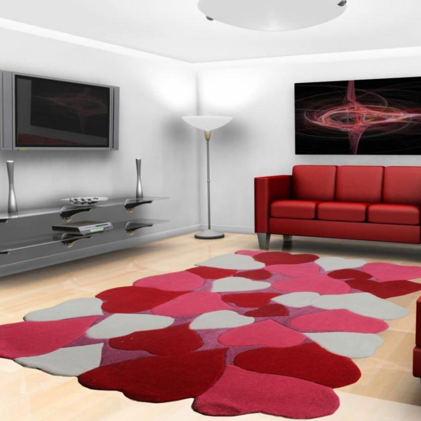 philippines heart design carpets soft coral fleece living room