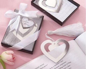 Heart Design Metal Bookmark Souvenir/Favor (Silver) Pack of 50 Price Philippines