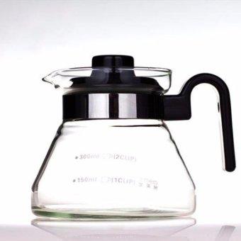 Heat Resistant Glass Teapot Coffee Pot Kettle Glass Range Server -intl - 2