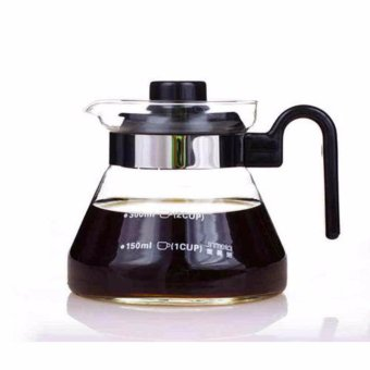 Heat Resistant Glass Teapot Coffee Pot Kettle Glass Range Server -intl