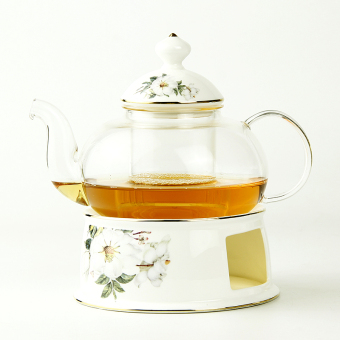 Heat-resistant tea filter ceramic stove flower teapot