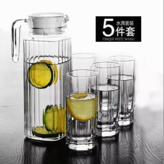 Heat-resistant tempered home glass striped juice cup