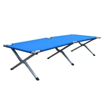 Heavy Duty Portable Folding Bed (Navy Blue)