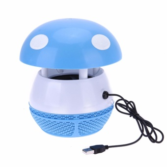 HEL-196 Photocatalyst Mosquito Killer LED Electronic MosquitoInsect Trap Household Repellent Lamp (Blue) #0123