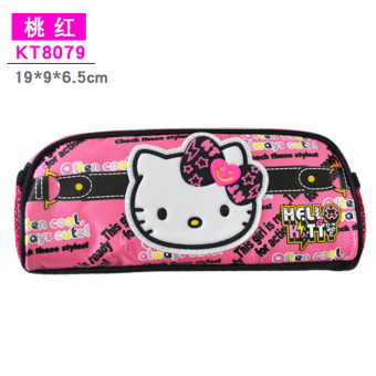 Hello Kitty campus pink female KT cat stationery bag cute pencil case