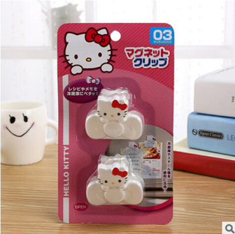Hello Kitty cute cat head food bag sealing clip