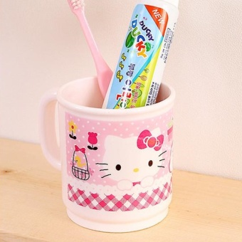 Hello Kitty cute plastic cylinder home cup cups cup