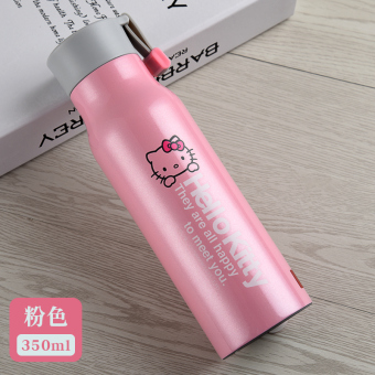 Hello Kitty female stainless steel portable anti-leaking cup insulated cup