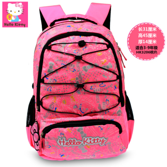 Hello Kitty girl's U-shaped shoulder spinal care backpack young student's school bag